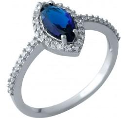 Серебряное кольцо SilverBreeze с сапфиром nano (1969366) 17 размер