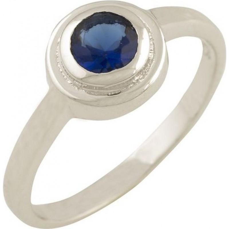 Серебряное кольцо SilverBreeze с сапфиром nano (0867007) 18 размер
