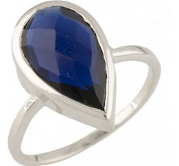 Серебряное кольцо SilverBreeze с сапфиром nano (0712949) 18 размер