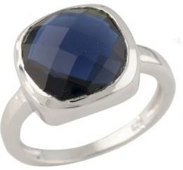 Серебряное кольцо SilverBreeze с сапфиром nano (0712222) 17.5 размер