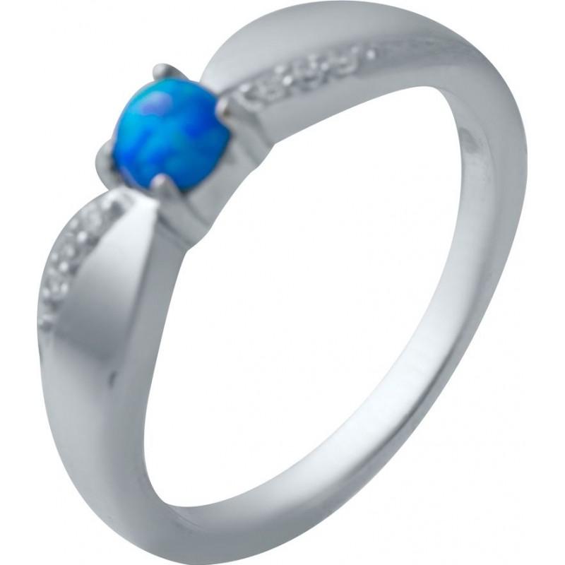 Серебряное кольцо SilverBreeze с опалом (2034940) 16 размер