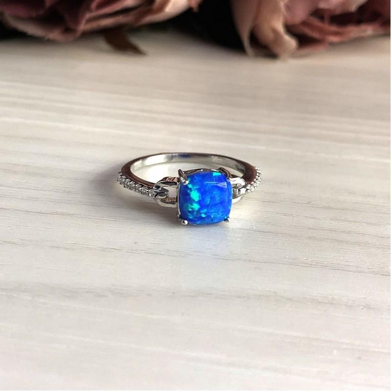 Серебряное кольцо SilverBreeze с опалом (2028956) 17.5 размер