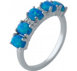 Серебряное кольцо SilverBreeze с опалом (2024217) 18.5 размер