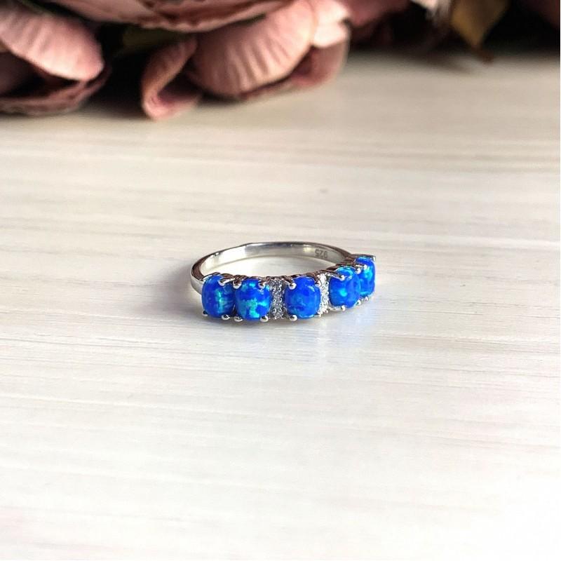 Серебряное кольцо SilverBreeze с опалом (2024217) 17.5 размер