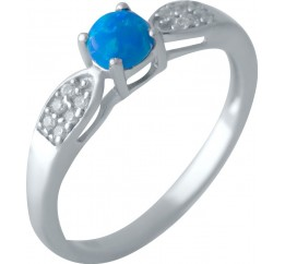 Серебряное кольцо SilverBreeze с опалом (2024187) 17.5 размер