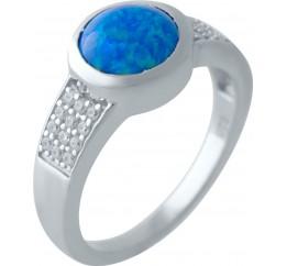 Серебряное кольцо SilverBreeze с опалом (2024071) 17.5 размер