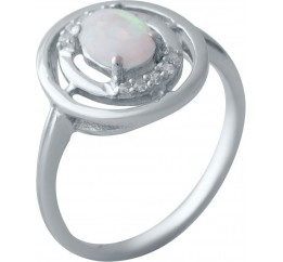 Серебряное кольцо SilverBreeze с опалом (2018483) 18.5 размер