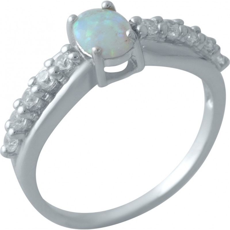 Серебряное кольцо SilverBreeze с опалом (2009382) 17 размер