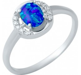 Серебряное кольцо SilverBreeze с опалом (1948231) 17 размер