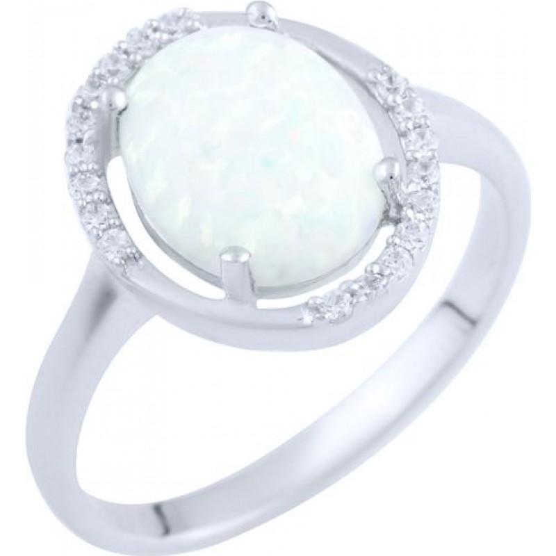 Серебряное кольцо SilverBreeze с опалом (1892558) 17.5 размер