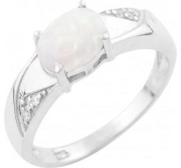 Серебряное кольцо SilverBreeze с опалом (1634899) 16.5 размер