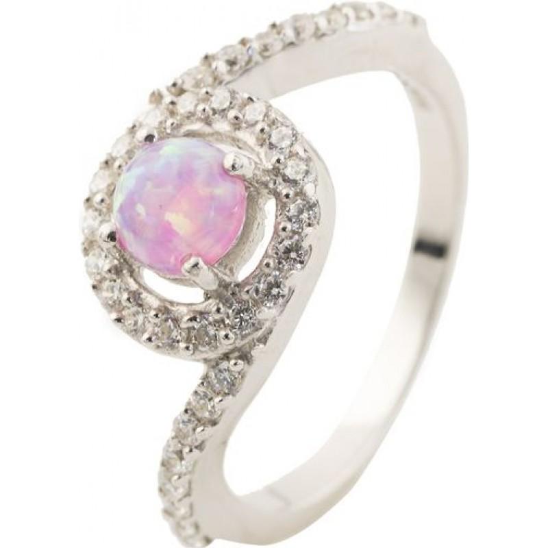 Серебряное кольцо SilverBreeze с опалом (0501659) 17 размер
