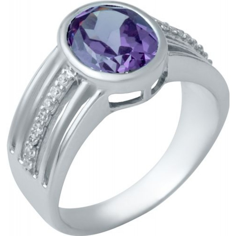 Серебряное кольцо SilverBreeze с олександритом (1940587) 18 размер