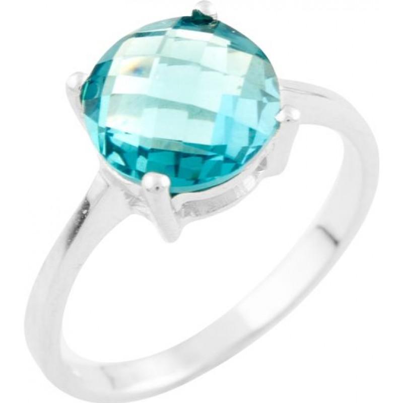 Серебряное кольцо SilverBreeze с натуральным топазом Лондон Блю (1533734) 17 размер