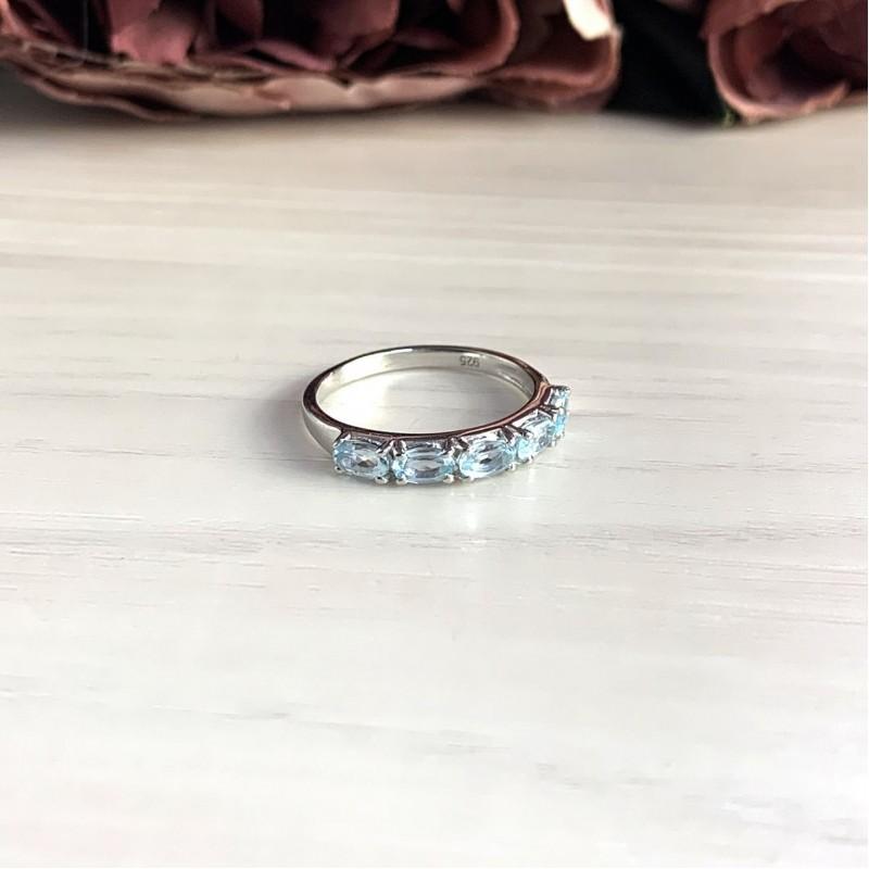 Серебряное кольцо SilverBreeze с натуральным топазом (2030515) 18 размер