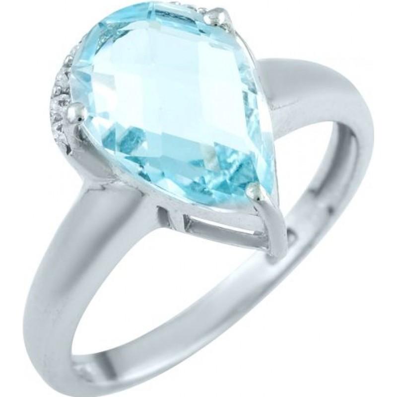 Серебряное кольцо SilverBreeze с натуральным топазом (0574790) 18 размер
