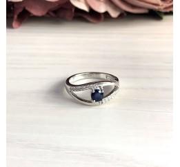 Серебряное кольцо SilverBreeze с натуральным сапфиром (2030393) 17 размер