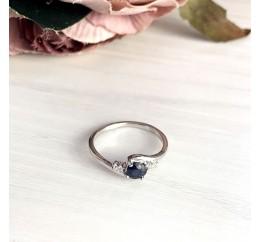 Серебряное кольцо SilverBreeze с натуральным сапфиром (2021827) 17.5 размер