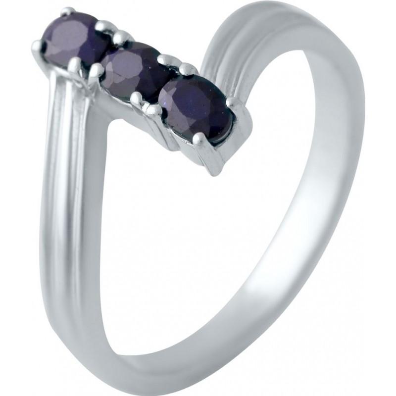 Серебряное кольцо SilverBreeze с натуральным сапфиром (2006152) 17.5 размер