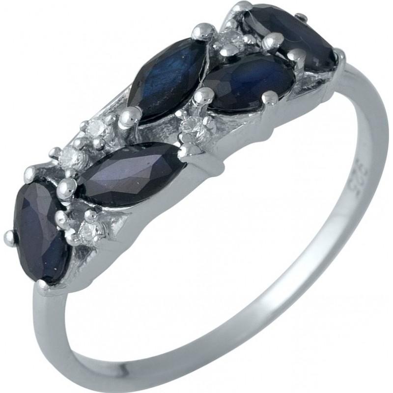 Серебряное кольцо SilverBreeze с натуральным сапфиром (1987469) 18.5 размер
