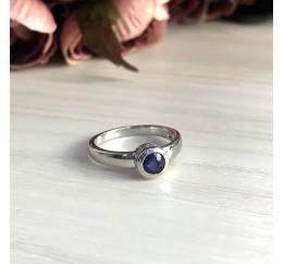 Серебряное кольцо SilverBreeze с натуральным сапфиром (1946923) 18 размер