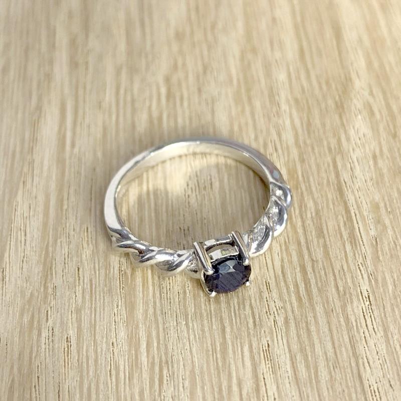 Серебряное кольцо SilverBreeze с натуральным сапфиром (1946893) 17 размер