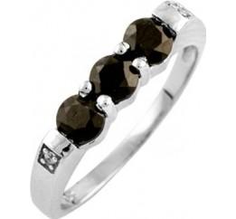 Серебряное кольцо SilverBreeze с натуральным сапфиром (0869889) 17 размер