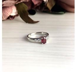 Серебряное кольцо SilverBreeze с натуральным рубином (2027966) 18.5 размер