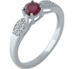 Серебряное кольцо SilverBreeze с натуральным рубином (2027805) 17 размер