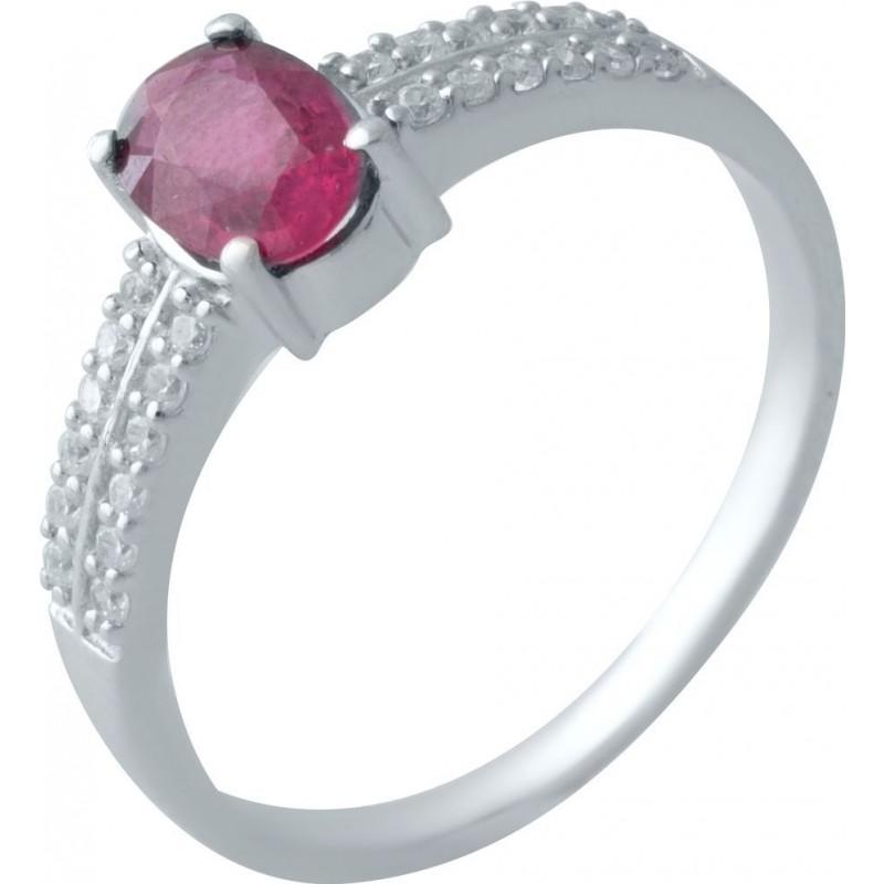 Серебряное кольцо SilverBreeze с натуральным рубином (2009979) 16.5 размер