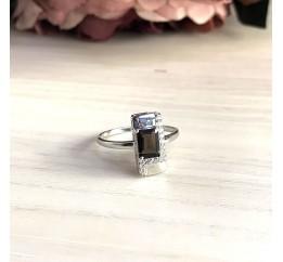 Серебряное кольцо SilverBreeze с натуральным раухтопазом (димчатим кварцем) (2025634) 17.5 размер