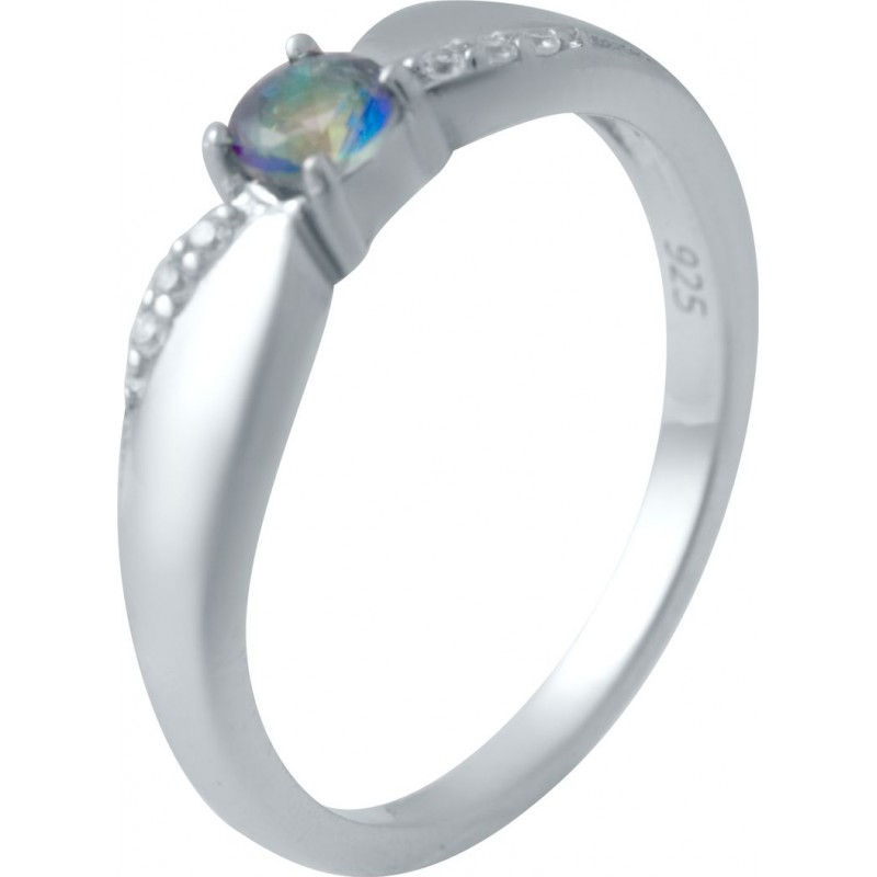 Серебряное кольцо SilverBreeze с натуральным мистик топазом (2032694) 16.5 размер