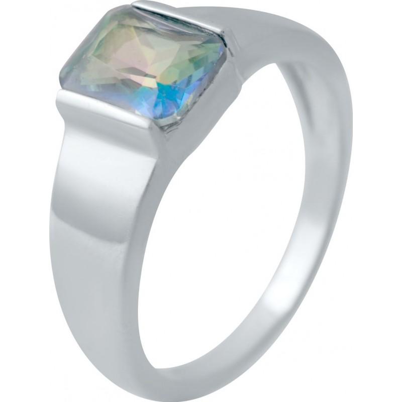Серебряное кольцо SilverBreeze с натуральным мистик топазом (2032618) 17 размер