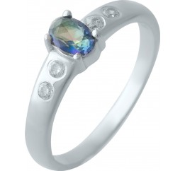 Серебряное кольцо SilverBreeze с натуральным мистик топазом (2024903) 17.5 размер