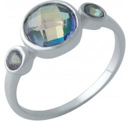 Серебряное кольцо SilverBreeze с натуральным мистик топазом (2004592) 18 размер