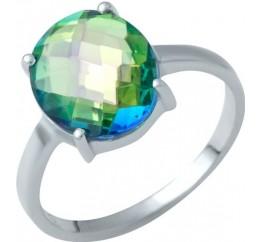 Серебряное кольцо SilverBreeze с натуральным мистик топазом (1949443) 18 размер