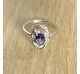 Серебряное кольцо SilverBreeze с натуральным мистик топазом (1933879) 18 размер