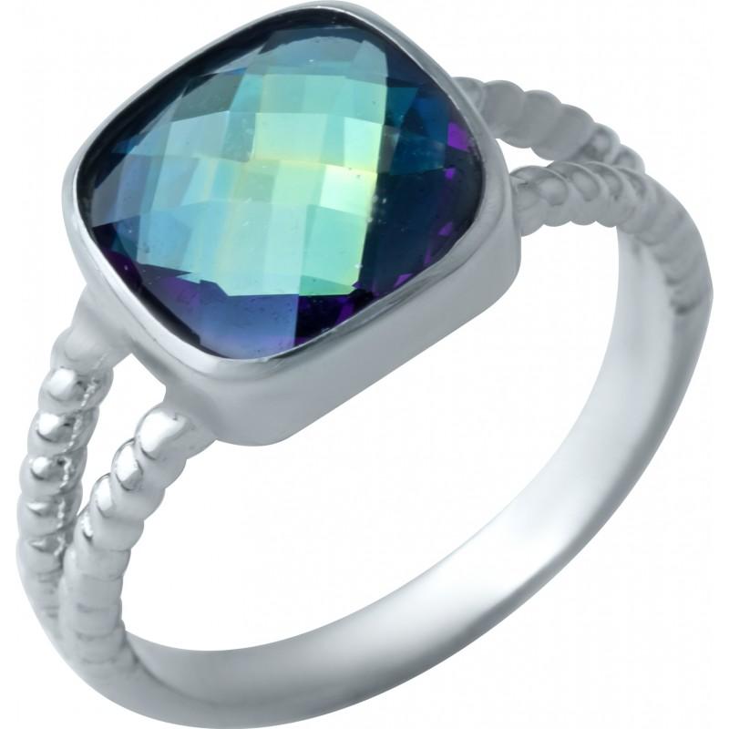 Серебряное кольцо SilverBreeze с натуральным мистик топазом (1922316) 18 размер