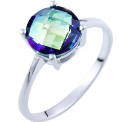 Серебряное кольцо SilverBreeze с натуральным мистик топазом (1734346) 17.5 размер