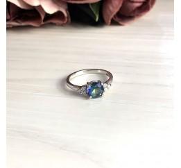 Серебряное кольцо SilverBreeze с натуральным мистик топазом (1247280) 17.5 размер