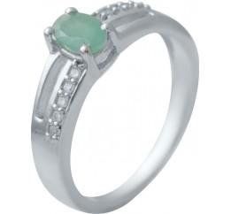 Серебряное кольцо SilverBreeze с натуральным изумрудом (2032366) 17 размер