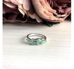 Серебряное кольцо SilverBreeze с натуральным изумрудом (2032236) 17.5 размер