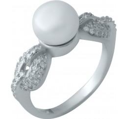 Серебряное кольцо SilverBreeze с натуральным жемчугом (1975770) 17.5 размер