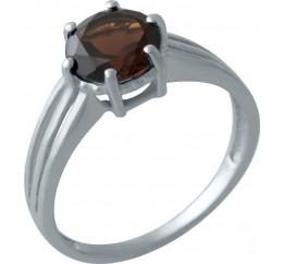 Серебряное кольцо SilverBreeze с натуральным гранатом (2002758) 17 размер