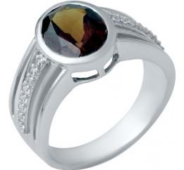 Серебряное кольцо SilverBreeze с натуральным гранатом (1940792) 17 размер