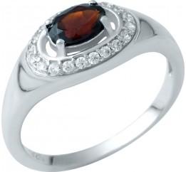 Серебряное кольцо SilverBreeze с натуральным гранатом (1937433) 16.5 размер