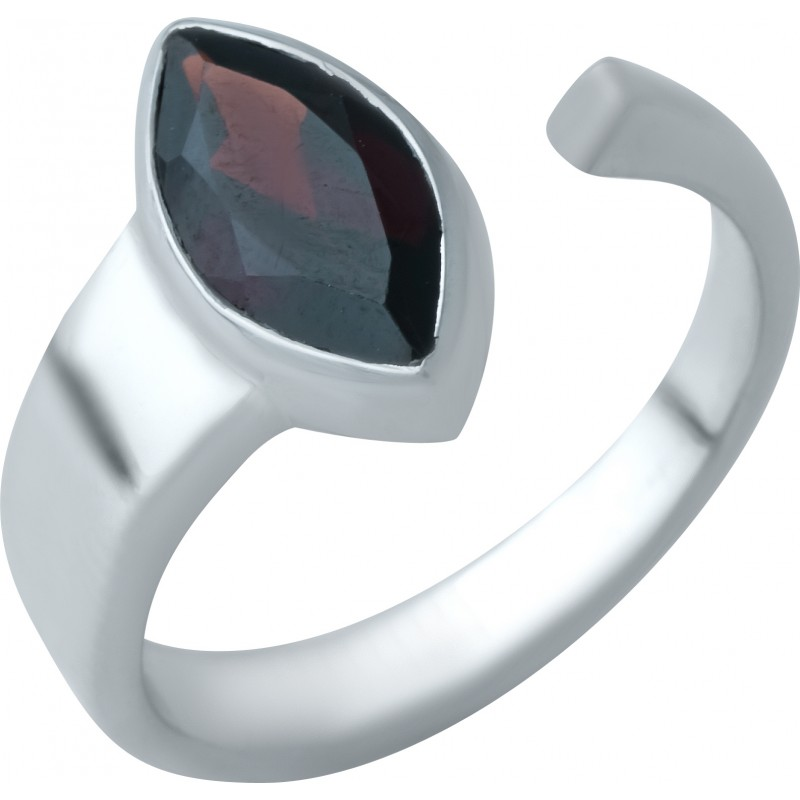 Серебряное кольцо SilverBreeze с натуральным гранатом (1932742) 17 размер