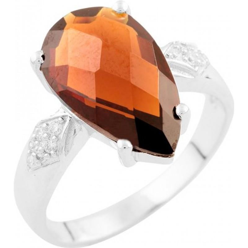 Серебряное кольцо SilverBreeze с натуральным гранатом (1531785) 17 размер