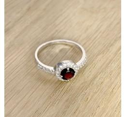 Серебряное кольцо SilverBreeze с натуральным гранатом (1227893) 16 размер