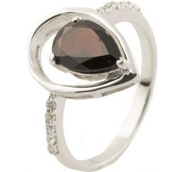 Серебряное кольцо SilverBreeze с натуральным гранатом (0505305) 17 размер
